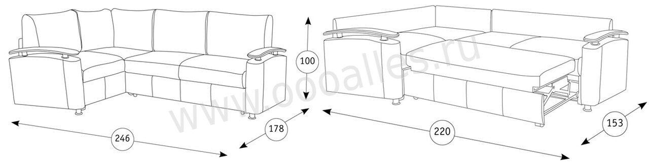 Оникс-5Д угловой схема