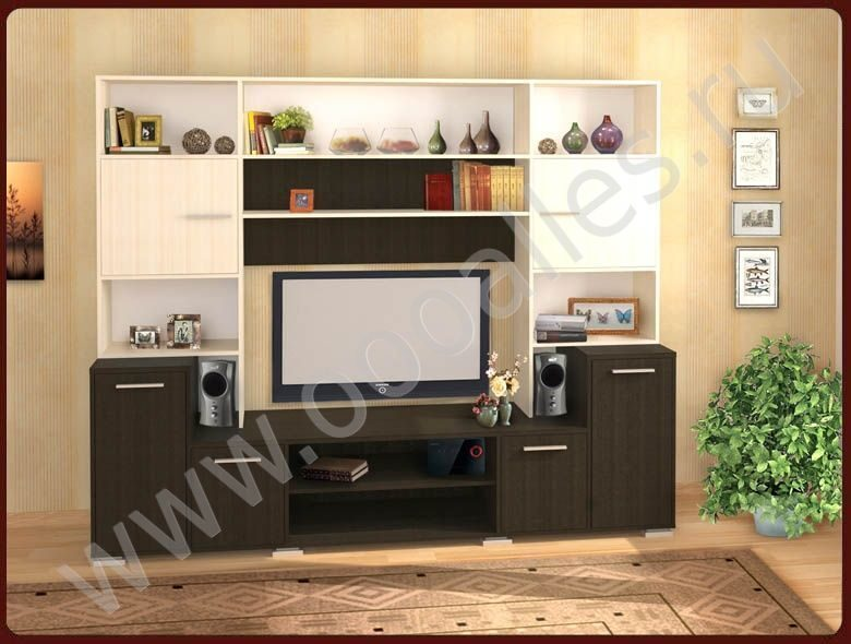 Стенка Марсель вариант 2 | Мебельный гарнитур в
