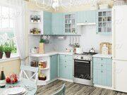 Кухня угловая Прованс голубой